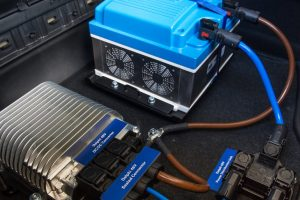 Delphi's_48-volt,_mild_hybrid_system,_shown_here_in_a_Honda_Civic_powered_by_a_1.6-liter_diesel,_completes_a_test_drive_around_the_company's_campus_in_Troy,_Michigan._The_mild_hybrid_system_adds_25_percent_more_low-end_torque_and_reduces_emissions_by_10_p